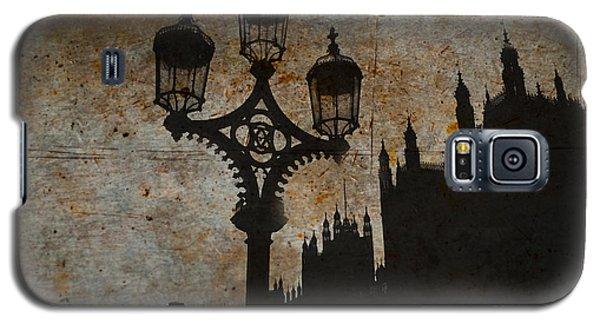 Galaxy S5 Case featuring the digital art Westminster Silhouette by Matt Malloy