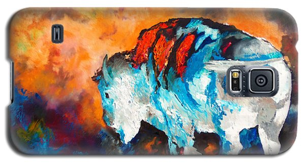Galaxy S5 Case featuring the painting White Buffalo Ghost by Karen Kennedy Chatham