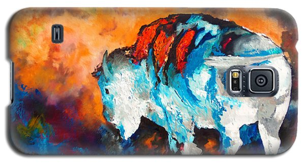 White Buffalo Ghost Galaxy S5 Case by Karen Kennedy Chatham