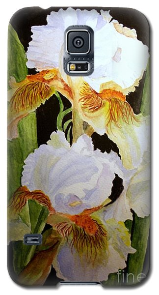 White Iris Galaxy S5 Case by Carol Grimes