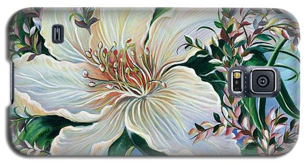 White Lily Galaxy S5 Case