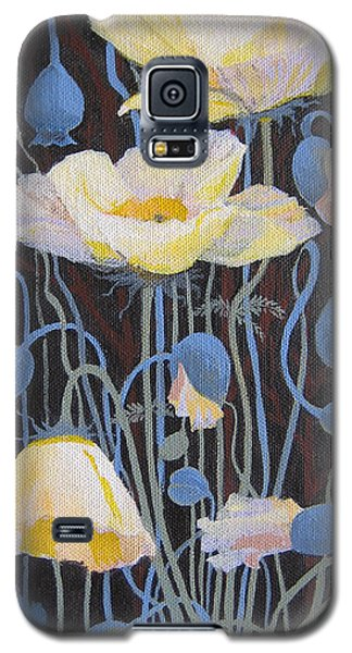 White Poppies Galaxy S5 Case