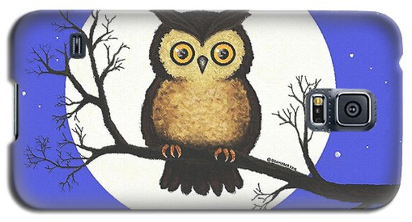 Galaxy S5 Case featuring the painting Whooo You Lookin' At by Sophia Schmierer