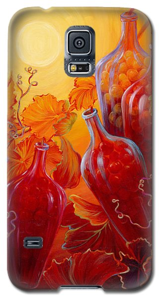 Galaxy S5 Case featuring the painting Wine On The Vine II by Sandi Whetzel
