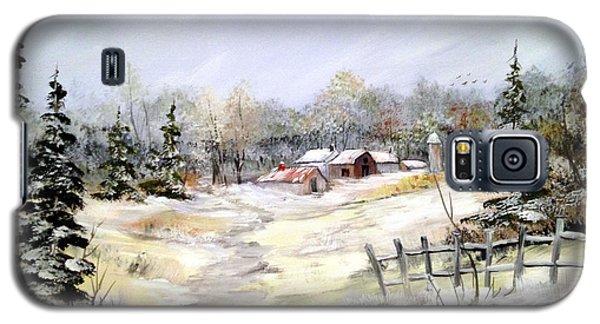 Winter At The Farm Galaxy S5 Case