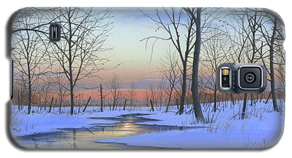 Galaxy S5 Case featuring the painting Winter Calm by Mike Brown