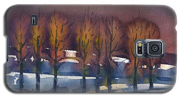 Galaxy S5 Case featuring the painting Winter Fantasy by Donald Maier