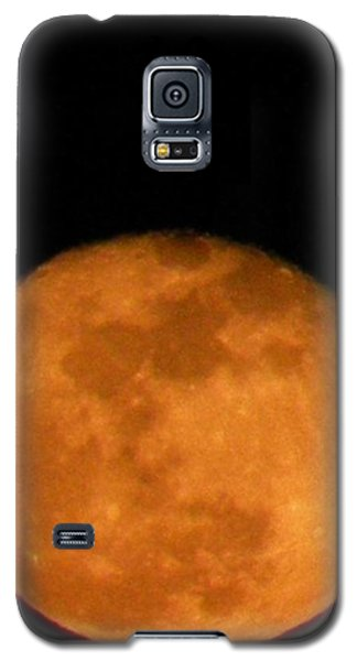Galaxy S5 Case featuring the photograph Winter Moon by Carlee Ojeda