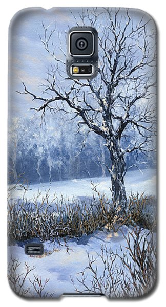 Galaxy S5 Case featuring the painting Winter Slumber by Lynne Wright