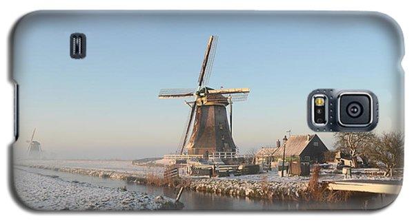 Winter Windmill Landscape In Holland Galaxy S5 Case