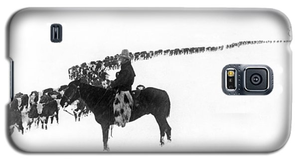 Wintertime Cattle Drive Galaxy S5 Case