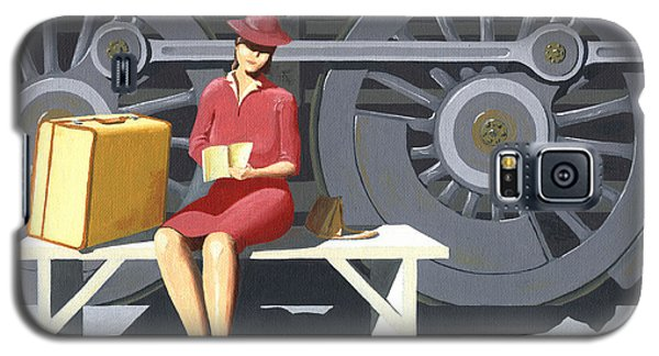Woman With Locomotive Galaxy S5 Case