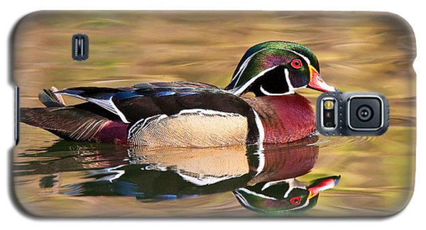 Galaxy S5 Case featuring the photograph Wood Duck by Ram Vasudev