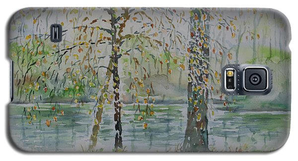 Galaxy S5 Case featuring the painting Woodmans Pond by Alfred Motzer