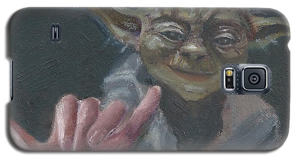 Galaxy S5 Case featuring the painting Y Is For Yoda by Jessmyne Stephenson