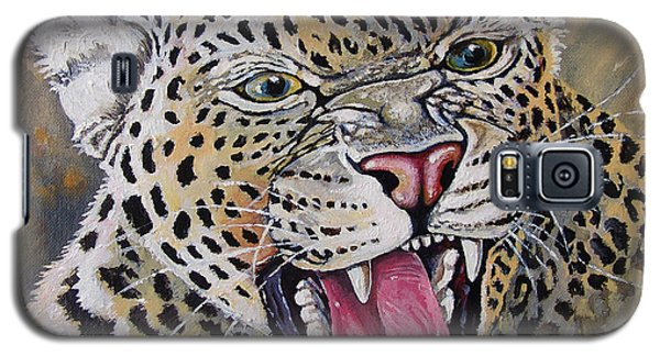 Galaxy S5 Case featuring the painting Yawn by Anthony Mwangi