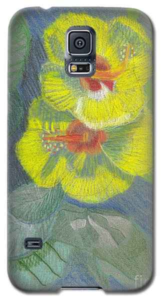 Yellow Hibiscus Galaxy S5 Case