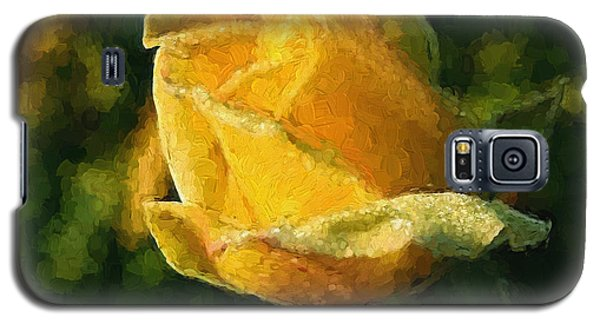 Yellow Rose In Watercolor Galaxy S5 Case