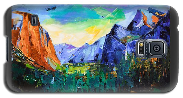Yosemite National Park Galaxy S5 Case - Yosemite Valley - Tunnel View by Elise Palmigiani