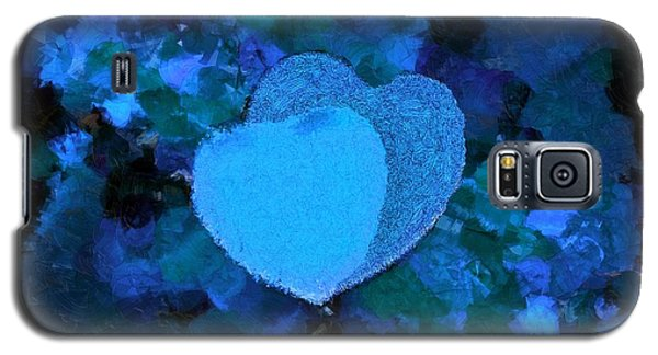 You Changed My Life Blue Galaxy S5 Case