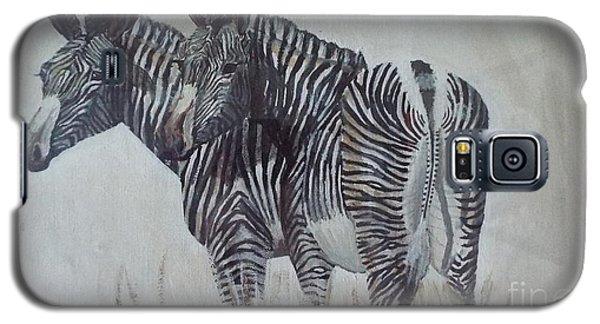 Zebras Galaxy S5 Case by Audrey Van Tassell