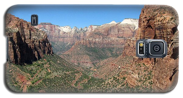 Zion Canyon Overlook Galaxy S5 Case by Debra Thompson