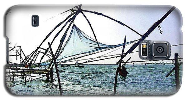 Fishing Nets On The Sea Coast In Alleppey Galaxy S5 Case by Ashish Agarwal