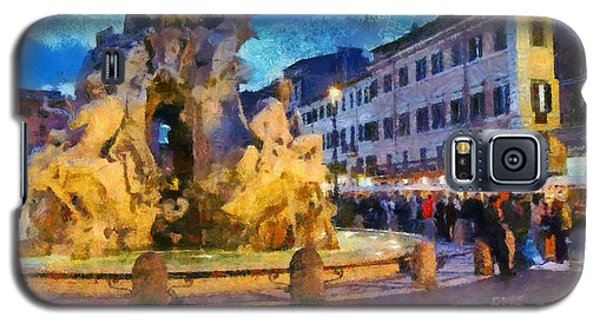 Piazza Navona In Rome Galaxy S5 Case
