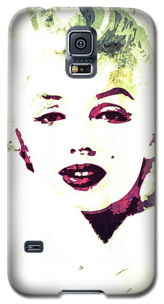 Galaxy S5 Case featuring the digital art Marilyn Monroe by Svelby Art