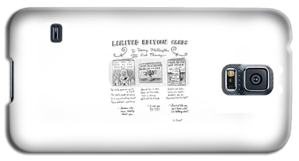Limited Edition Cards Galaxy S5 Case by Roz Chast