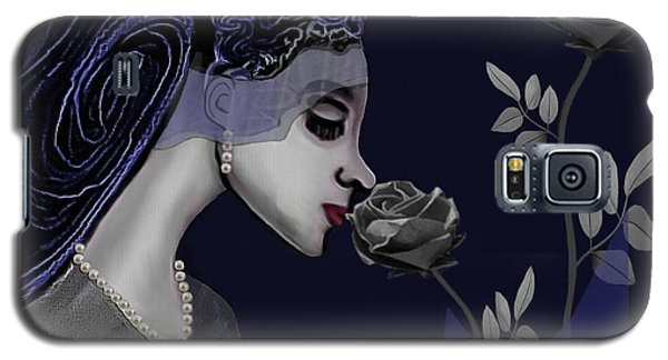 126 - A Young Woman With Roses ... Galaxy S5 Case by Irmgard Schoendorf Welch