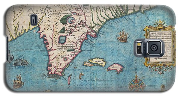 1591 De Bry And Le Moyne Map Of Florida And Cuba Galaxy S5 Case by Paul Fearn