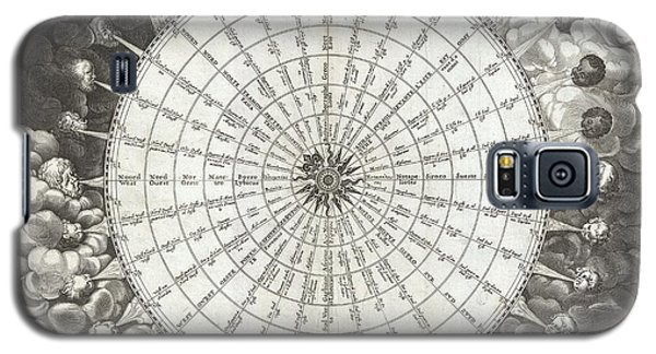 1650 Jansson Wind Rose Anemographic Chart Or Map Of The Winds Galaxy S5 Case by Paul Fearn