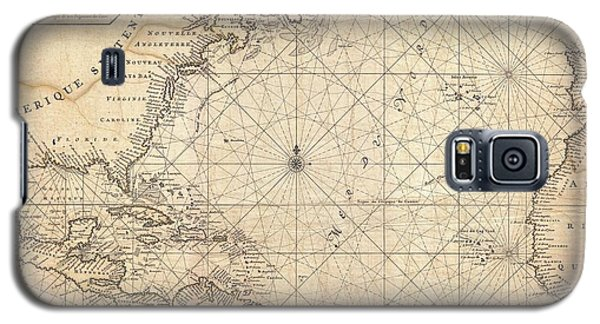 1683 Mortier Map Of North America The West Indies And The Atlantic Ocean  Galaxy S5 Case by Paul Fearn