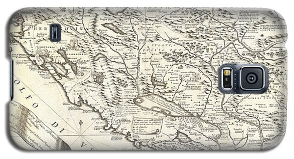 1690 Coronelli Map Of Montenegro Galaxy S5 Case by Paul Fearn