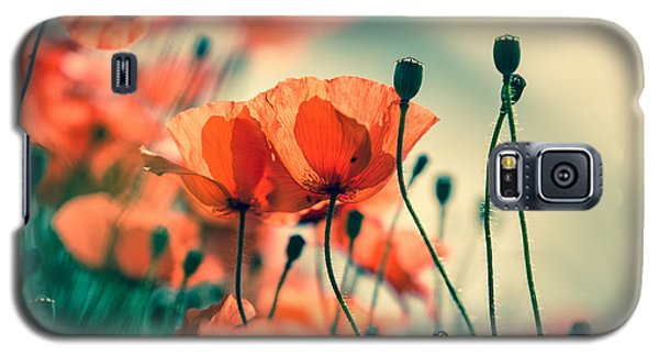 Garden Galaxy S5 Case - Poppy Meadow by Nailia Schwarz