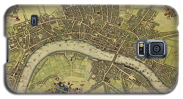 17 Th Century Map Of London England Galaxy S5 Case