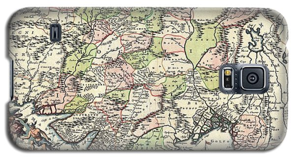 1700 Map Of India Galaxy S5 Case by Joseph Hawkins