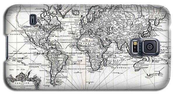 1748 Antique World Map Versuch Von Einer Kurzgefassten Karte  Galaxy S5 Case