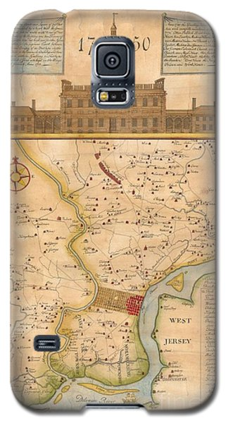 1752  Scull  Heap Map Of Philadelphia And Environs Galaxy S5 Case by Paul Fearn