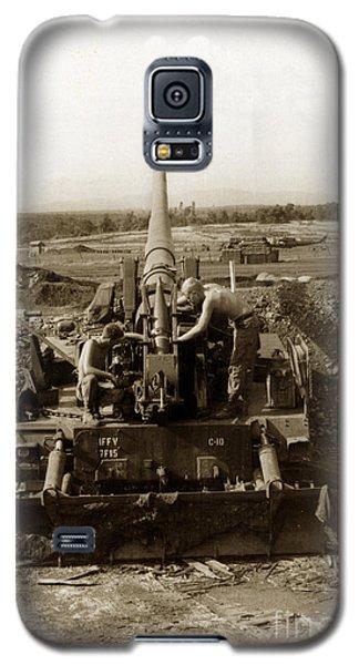 175mm Self Propelled Gun C 10 7-15th Field Artillery Vietnam 1968 Galaxy S5 Case