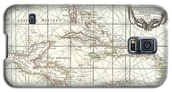 1762 Zannoni Map Of Central America And The West Indies Galaxy S5 Case by Paul Fearn