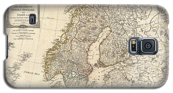 1794 Laurie And Whittle Map Of Norway Sweden Denmark And Finland Galaxy S5 Case by Paul Fearn