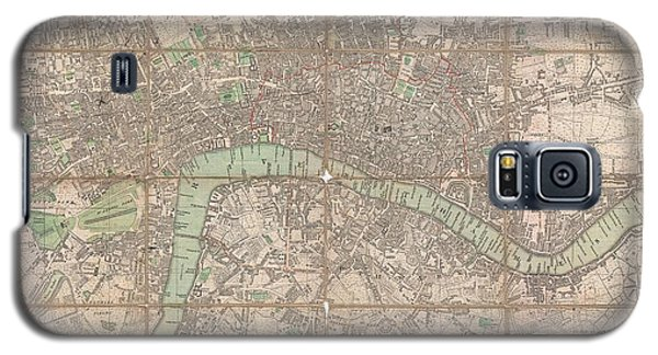 1795 Bowles Pocket Map Of London Galaxy S5 Case by Paul Fearn