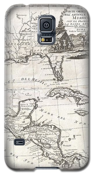 1798 Cassini Map Of Florida Louisiana Cuba And Central America Galaxy S5 Case by Paul Fearn