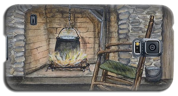 1800s Cozy Cooking .... Fire Place Galaxy S5 Case