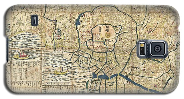 1849 Japanese Map Of Edo Or Tokyo Galaxy S5 Case by Paul Fearn