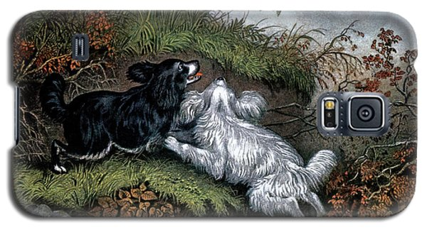1860s Two Spaniel Dogs Flushing Galaxy S5 Case