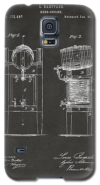 1876 Beer Keg Cooler Patent Artwork - Gray Galaxy S5 Case