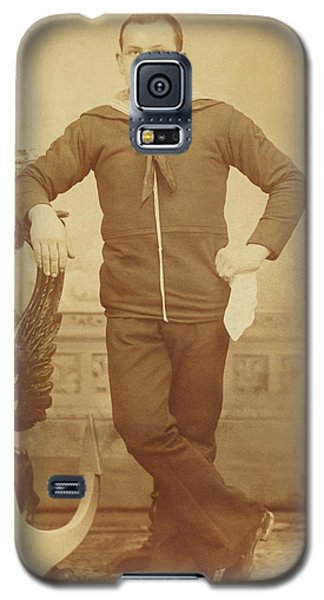 Galaxy S5 Case featuring the photograph 1880s Italian Sailor by Paul Ashby Antique Image